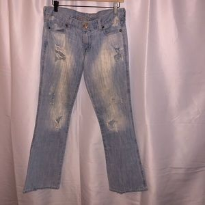 Old Navy super distressed jeans